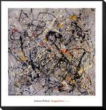 Number 18, 1950 Indrammet og monteret tryk af Jackson Pollock
