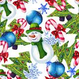 Watercolor Christmas Pattern Affiches par  lenavetka87