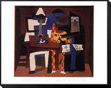 Trois musiciens Reproduction montée et encadrée par Pablo Picasso