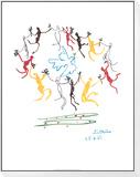 Ungdommens dans Indrammet og monteret tryk af Pablo Picasso