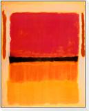 Sin título (violeta, negro, naranja, amarillo sobre blanco y rojo), 1949 Lámina montada y enmarcada por Mark Rothko
