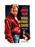 50 jaar Rebel Without a Cause, James Dean, 1955, Engelse tekst Gicléedruk