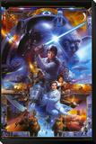 Star Wars - Saga Collage Innrammet montert trykk