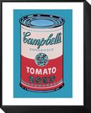 Campbells soppburk, 1965, rosa och röd Inramat och monterat print av Andy Warhol