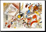 Livlig akvarell, ca 1923 Inramat och monterat print av Wassily Kandinsky
