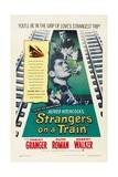 Strangers on a Train 1951 Impressão giclée