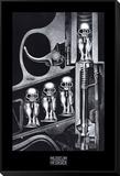 Máquina de nacimiento Lámina montada y enmarcada por H. R. Giger
