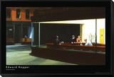 Natteravner, ca. 1942 Innrammet montert trykk av Edward Hopper