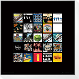 The Beatles: Album Collection Music Poster Gerahmter, auf Holz aufgezogener Druck