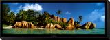 Insel La Digue, Seychellen, Indischer Ozean Gerahmter, auf Holz aufgezogener Druck von K.H. Hanel