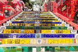 Escadaria Selaron, Rio De Janeiro, Brazil Premium fotografisk trykk av  Frazao