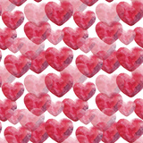 Watercolor Valentine's Day Pattern Poster av  lenavetka87