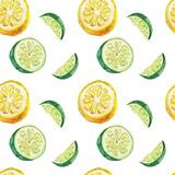 Watercolor Citrus Pattern Juliste tekijänä  lenavetka87
