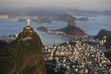 Aerial View of Christ, Sugarloaf, Guanabara Bay, Rio De Janeiro Impressão fotográfica por  readytogo