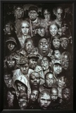 Rap Gods (Rapper Collage) Music Poster Print アートポスター