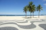 Copacabana Beach Boardwalk Rio De Janeiro Brazil Reproduction photographique par  LazyLlama