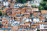 Favela, Brazilian Slum in Rio De Janeiro Reproduction photographique par  thakala