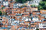 Favela, Brazilian Slum in Rio De Janeiro Impressão fotográfica por  thakala