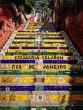 Selaron's Steps (Escadaria), Rio De Janeiro Photographic Print by  jantima