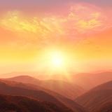 Sunrise in the Mountains Stampa fotografica di  Catwoman