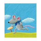 Running Mouse Láminas por  andreapetrlik