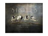 Sisters Chickadees Stampa giclée di Jai Johnson
