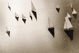 Broads Regatta, Island Yachts Giclee Print by Ben Wood