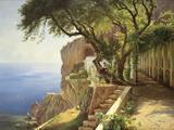 Pergola In Amalfi Giclée-tryk af Carl Frederic Aagaard