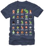 Super Mario - Pixel Cast Tshirts