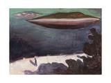 Summer Night on the Oslofjord, 1900 Giclée-tryk af Edvard Munch