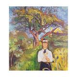 Girl under Apple Tree, 1904 Giclee-trykk av Edvard Munch
