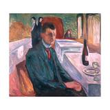 Self Portrait in Weimar, 1906 Giclée-tryk af Edvard Munch