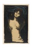 Madonna (Conception), 1895-1914 Giclée-tryk af Edvard Munch