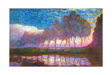 Row of Eleven Poplars in Red, Yellow, Blue and Green, 1908 Giclee-trykk av Piet Mondrian