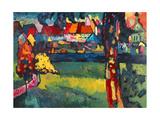 Murnau, 1909 Reproduction procédé giclée par Wassily Kandinsky
