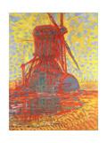Mill in Sunlight: the Winkel Mill, 1908 Reproduction procédé giclée par Piet Mondrian