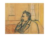 Portrait of Friedrich Nietzsche, 1905 ジクレープリント : エドヴァルド・ムンク