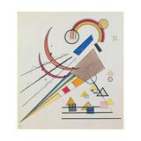 With the Triangle (W/C and Gouache) Lámina giclée por Wassily Kandinsky
