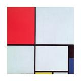 Composition with Red, Black, Blue and Yellow, 1928 Giclee-trykk av Piet Mondrian