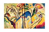 Composition No. 4, 1911 Gicléetryck av Wassily Kandinsky