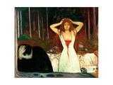 Ashes Giclée-tryk af Edvard Munch