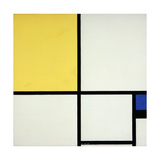 Composition with Blue and Yellow; Composition Avec Bleu Et Jaune, 1931 Giclee-trykk av Piet Mondrian