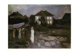 The Storm, 1893 Giclée-tryk af Edvard Munch