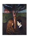 Eyes in Eyes, 1894 Giclée-tryk af Edvard Munch