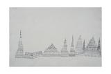 City of Cathedrals, 1927 Giclee-trykk av Paul Klee