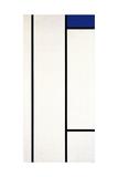 Vertical Composition with Blue and White, 1936 Reproduction procédé giclée par Piet Mondrian
