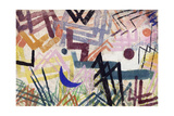 The Power of Play in a Lech Landscape; Spiel Der Krafte Einer Lechlandschaft, 1917 Giclee-trykk av Paul Klee