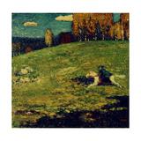The Blue Rider, 1903 Giclée-tryk af Wassily Kandinsky