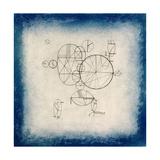 Blue Circles, 1933 Giclee-trykk av Wassily Kandinsky