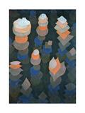Growth of the Night Plants, 1922 Gicléetryck av Paul Klee